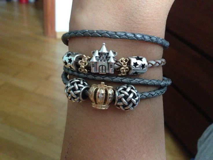 i love the idea of a leather pandora bracelet - Pandora Bracelet Design Ideas