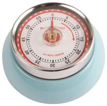 Magnetic Kitchen Timer, Light Blue traditional kitchen tools