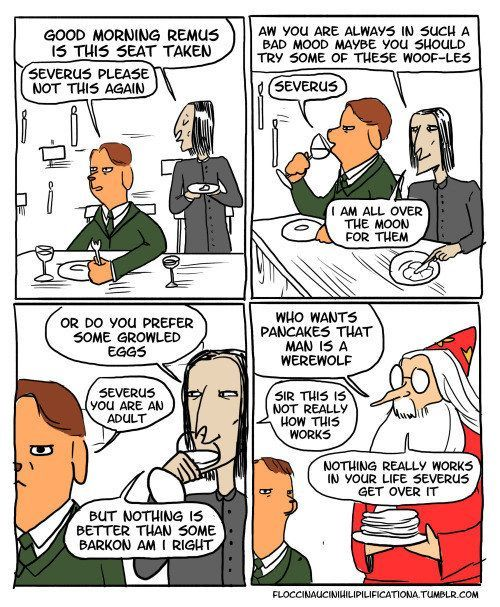 Or trying to lob puns at Lupin. | These Harry Potter Comics Will Have You Crying With Laughter