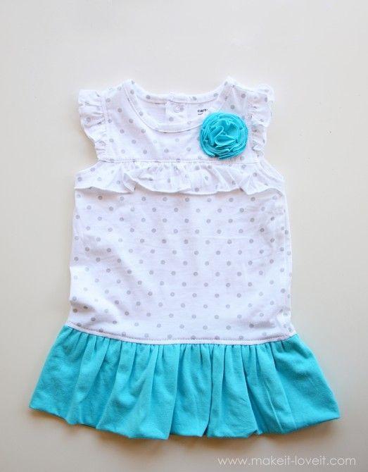 turn onesie into bubble dress