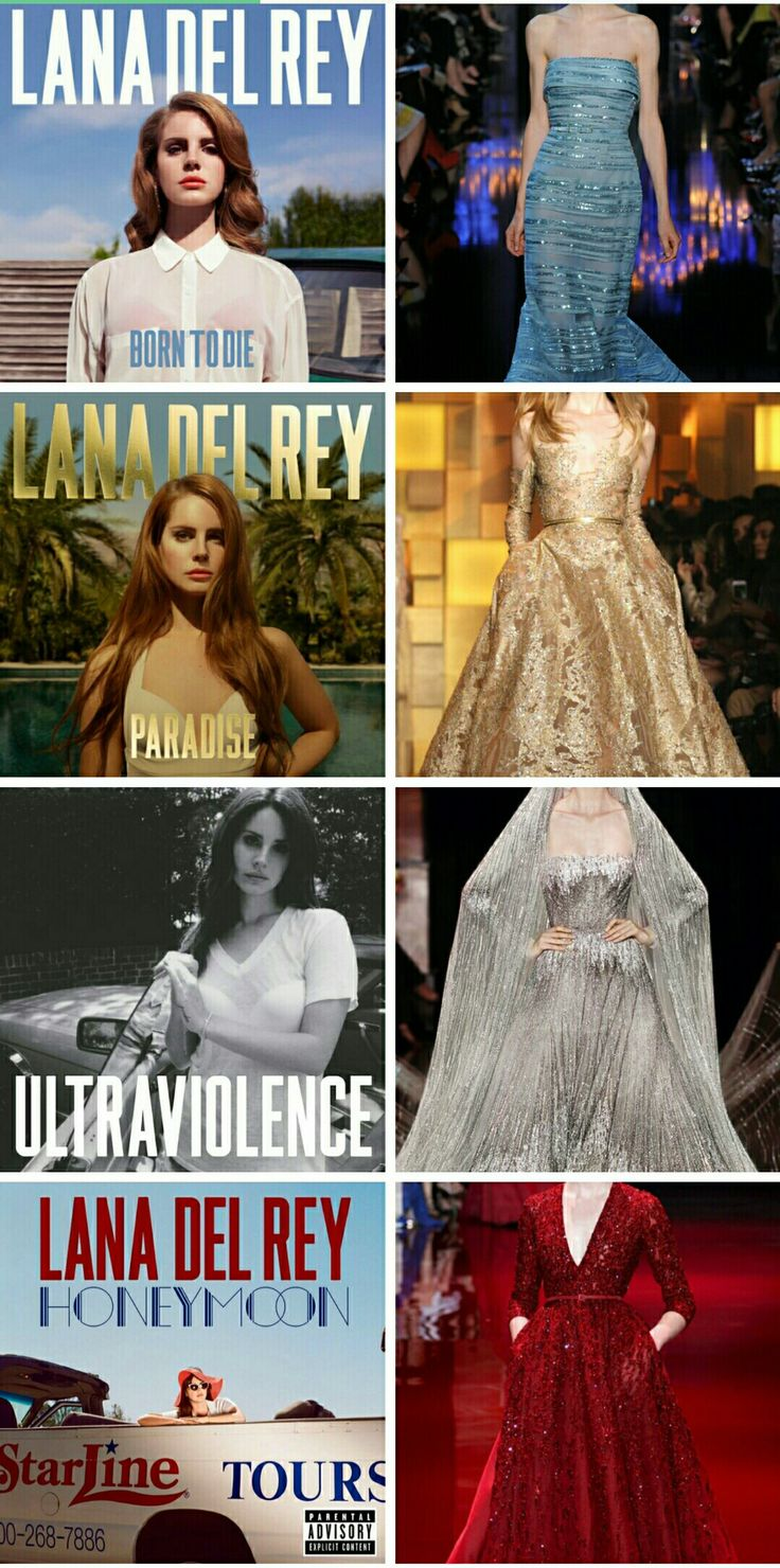 Lana Del Rey albums + Elie Saab dresses #LDR #discography