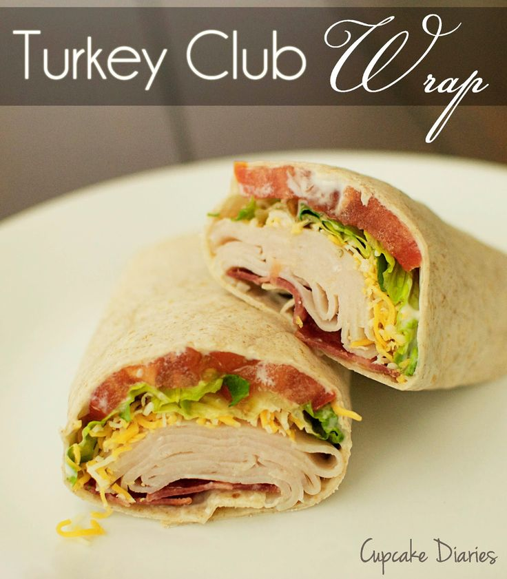 Turkey Club Wrap. #turkeywrap I used honey mustard instead of ranch dressing. Delicious. You could really use a variety if different things as a spread. ~Krispen