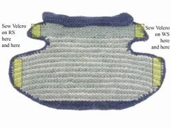 Guest designer Annie Modesitt has contributed this cute garter stitch dog jacket pattern. Annie is working on a book called Men Who Knit (and The Dogs Who Love Them…). Keep your eyes open for it at your local yarn shop later this year, but in the meantime,you can get a sneak peek on Annie's web …
