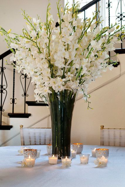 White Orchid Centerpiece Arrangement
