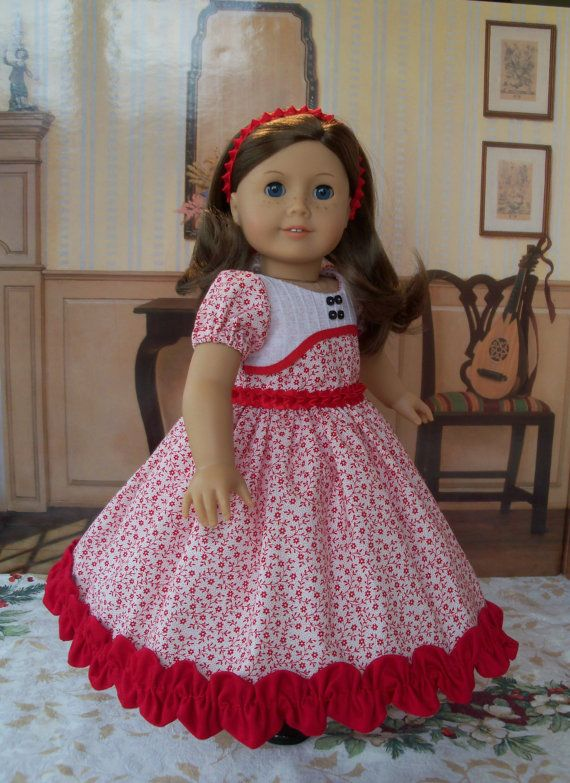 American Girl Christmas Dress  / Clothes for Marie Grace, Cecile or Caroline