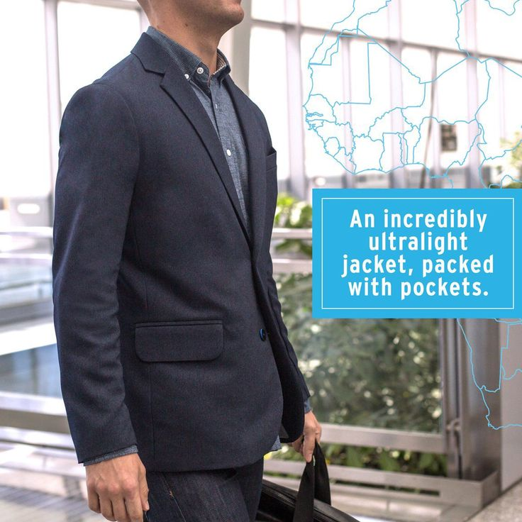 Men's Lightweight Multi-Pocket Travel Blazer