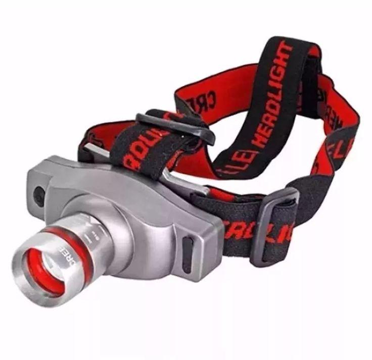 lanterna de cabeça 300w 160 lumens led cree q3 recarregável