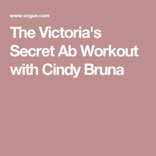 The Victoria's Secret Ab Workout with Cindy Bruna