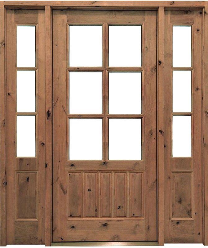 Glass Clear Beveled Low Etimber Knotty Aldersingle Door 3 0 X 6 8 8 0 X 1 3 4 Double Door 6 0 X 6 8 8 0 X 1 3 4 Exterior Doors Entry Doors Wood Exterior Door