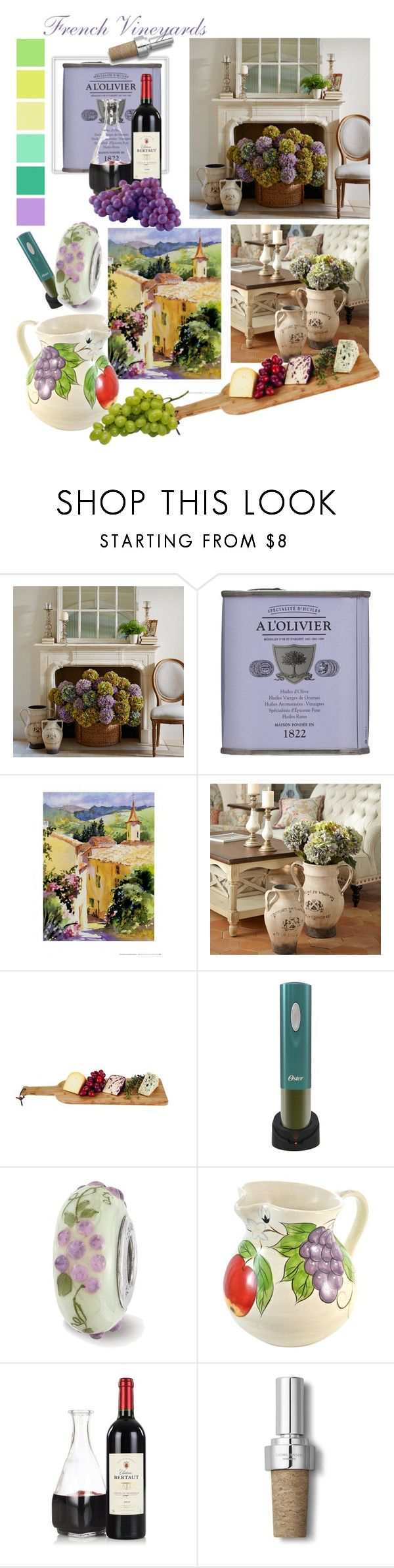 """""""French vineyards"""" by changethisonce ❤ liked on Polyvore featuring interior, interiors, interior design, home, home decor, interior decorating, Pier 1 Imports, A L'Olivier, Seed Design and Georg Jensen"""