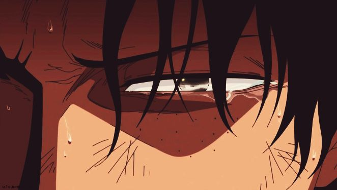 one piece animated GIF #Ace's_tears