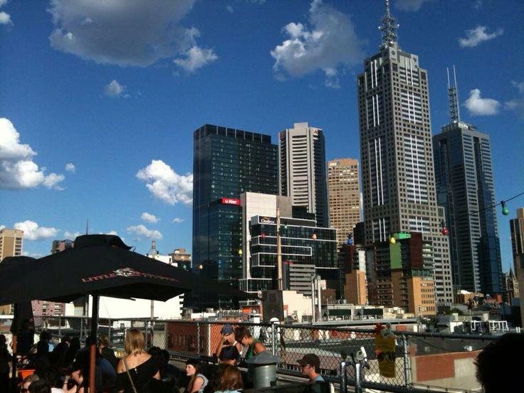 Rooftop bar in Swanston street