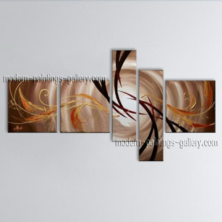 Large modern abstract oil painting on canvas wall art home for Abstract art for dining room