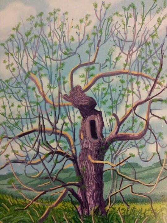 Hockney tree.. I really admire his paintings of trees..