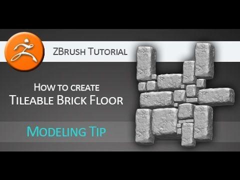 Tutorial: How to create Tileable Brick Floor in Pixologic ZBrush