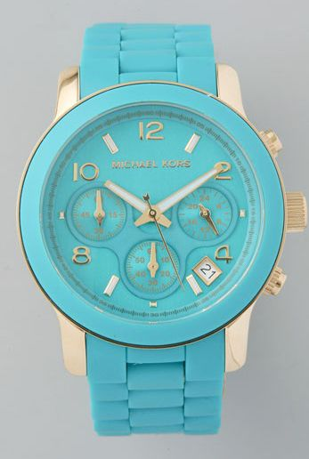 : Baby Blue, Style, Color, Tiffany Blue, Gold Watches, Mk Watches, Michael Kors Watches, Michaelkors, Men Watches