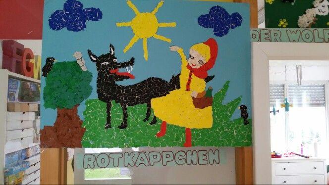 Rotkäppchen und der böse Wolf Η κοκκινοσκουφιτσα  (ομαδική εργασία ) ιδιωτικός παιδικός σταθμός Μόναχο