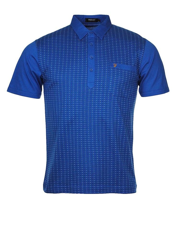 Farah Fletcher Polo Tee, Azure Blue | McElhinneys Online Department Store