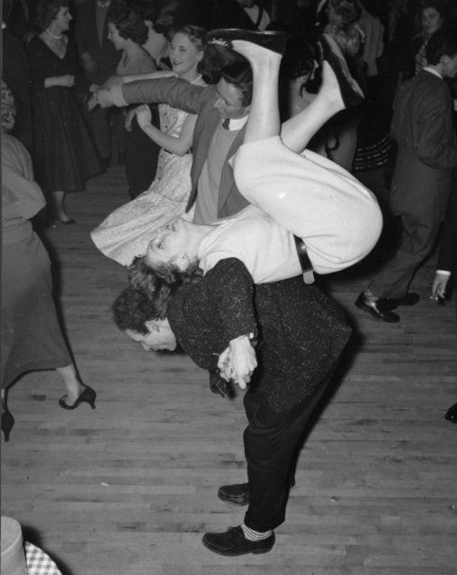 you can tell that this dance is from the 1950s because they were really going for it as oppose to how people dance nowadays.