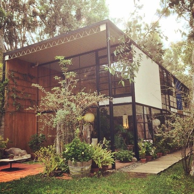 The Eames house in Pacific Palisades