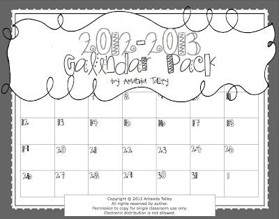 2012-2013 FREE Calendar Set