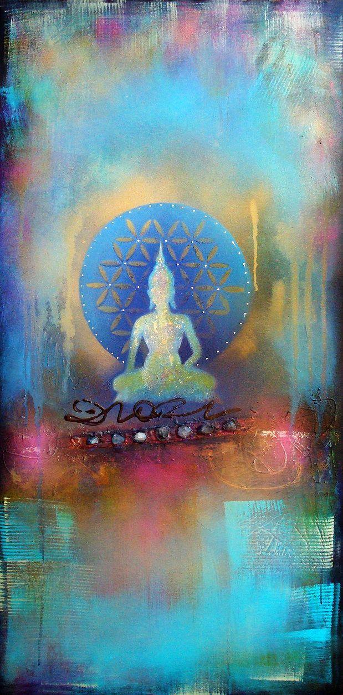 """Fear is a natural reaction to moving closer to the truth."" ~ Pema Chodron Artist: Tara Catalano Buddha Art.."