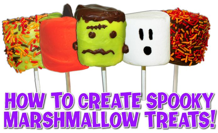 These halloween marshmallow pops are quick and easy to for Quick and easy halloween treats to make