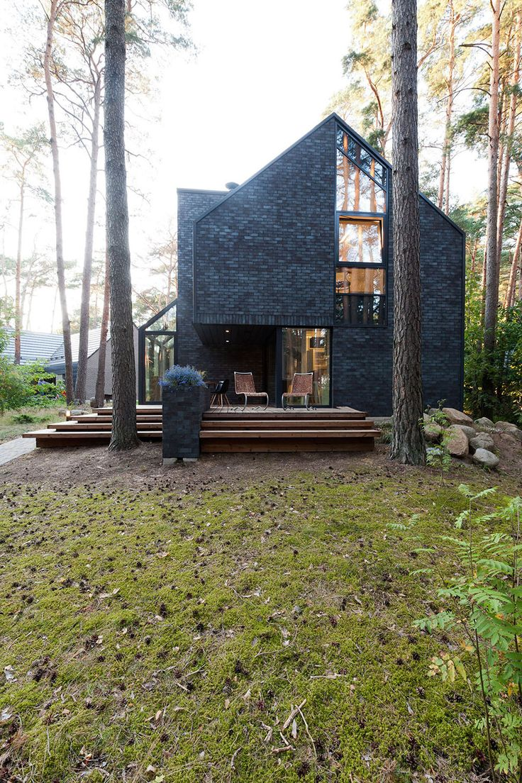 Delightful Modern Forest House Dedicated To Blues Music: Black House Blues