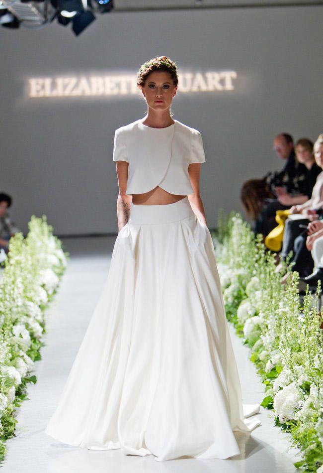 french taffeta wedding skirt, two pieces wedding dress