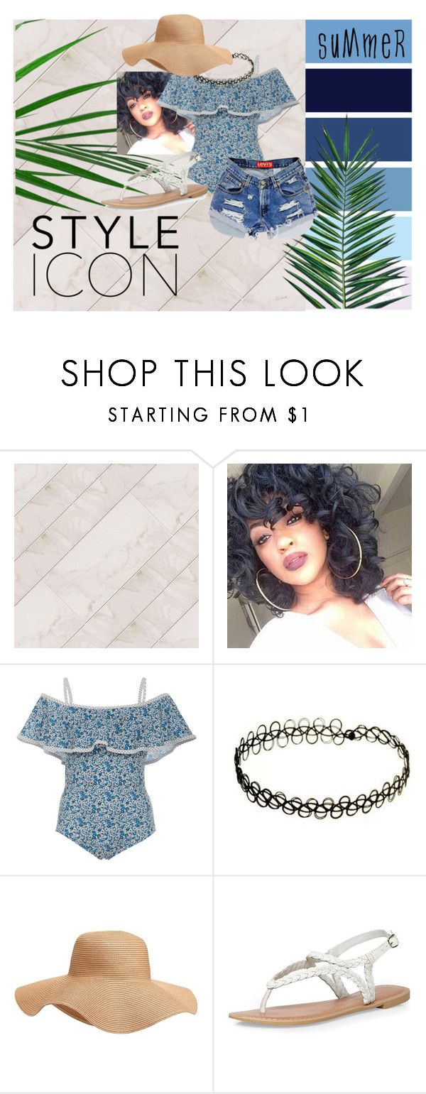 """""""Blue Waves"""" by myluluann on Polyvore featuring Karla Colletto, Old Navy, Dorothy Perkins, Nika and Levi's"""