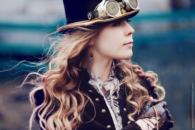 steampunk: Steampunk Fashion, Outfit, Steam Punk, Steampunk Hats, Fashion Portraits, Steampunk Photography, Steampunk Girls, Earrings, Tops Hats