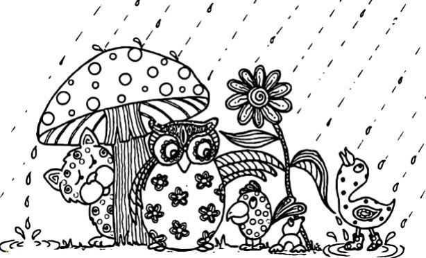 April Showers Bring May Flowers Coloring Page Animal Coloring Pages Coloring Pages Bunny Coloring Pages