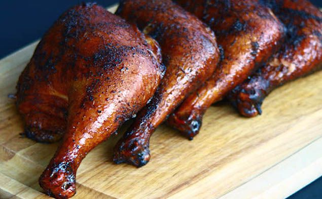 Here's a collection of smoked chicken quarter recipes for tender skin and also a faster hybrid smoke and grill combo for crisp skin. Happy Q-ing!