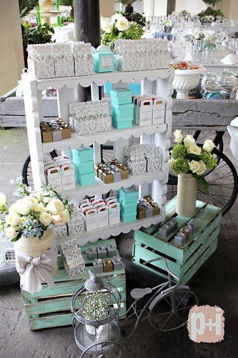 mesas dulces con cajas de madera - Buscar con Google