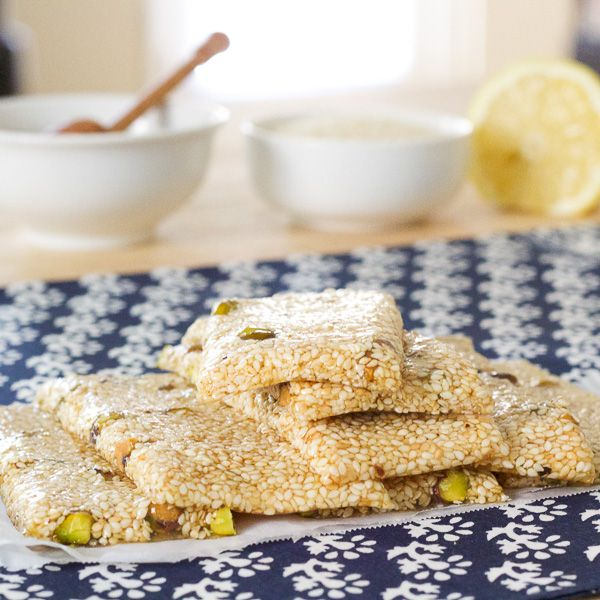 Pasteli | Ancient Greek Honey Sesame Bar | Lemon & Olives | Greek Food & Culture Blog