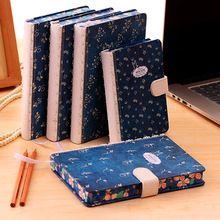 Творческий старинные ноутбук Твердый Переплет Выстроились Дневник Мило Планировщик Журнал Школа Изучения Ноутбук цветок Memo Повестки Дня Блокнот Подарок(China (Mainland))