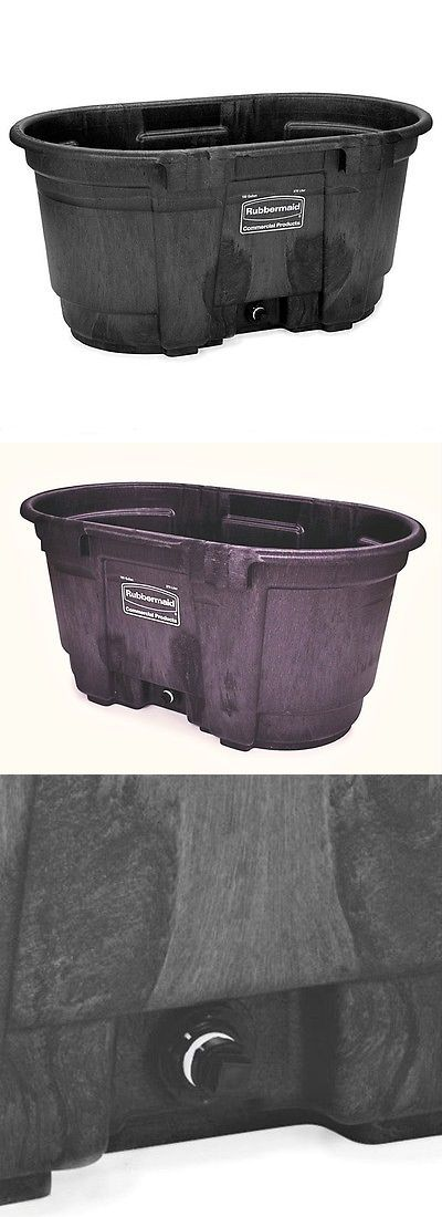 Storage Boxes 159897: Rubbermaid 100 Gallon Black Stock Tank With Drain Plug -> BUY IT NOW ONLY: $169.99 on eBay!