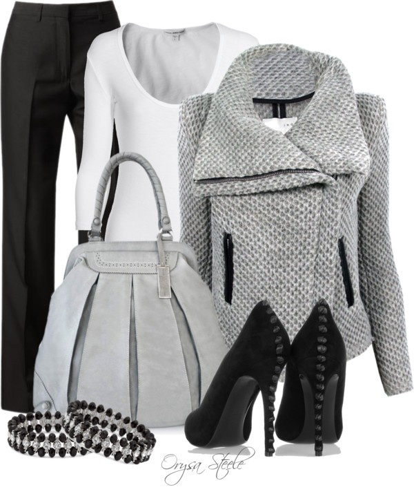 """""""Grey Scale"""" by orysa on Polyvore"""