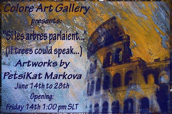 PetsiKat Markova's exhibiton flyer