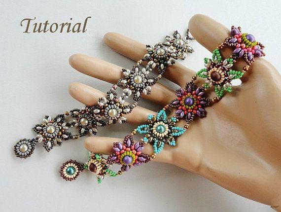 PDF for beadwoven bracelet beading tutorial by PeyoteBeadArt