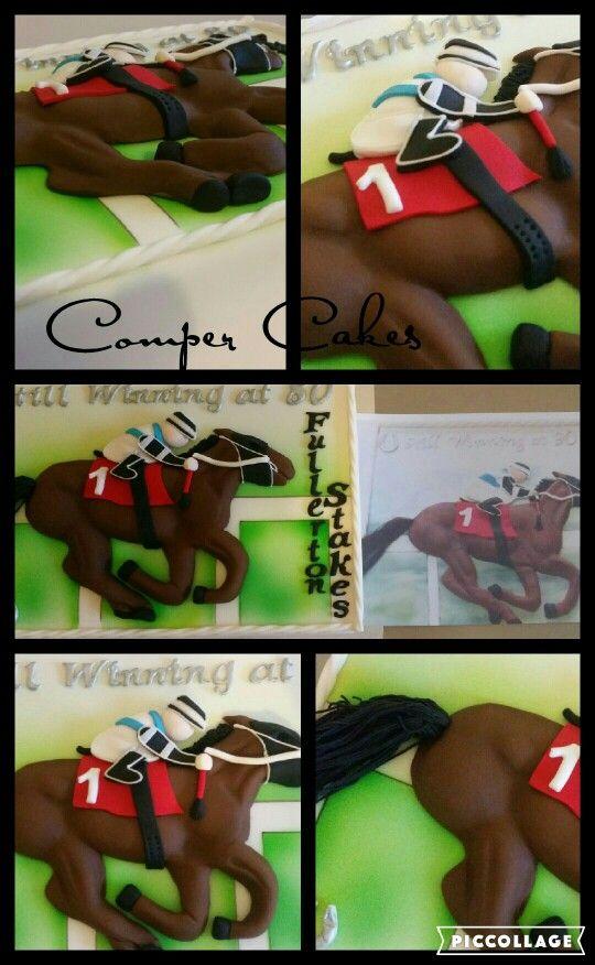 2D horse theme cake