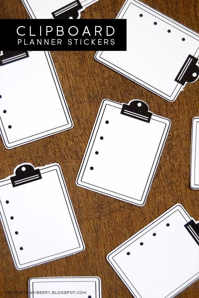 Free Printable: Clipboard Planner Stickers