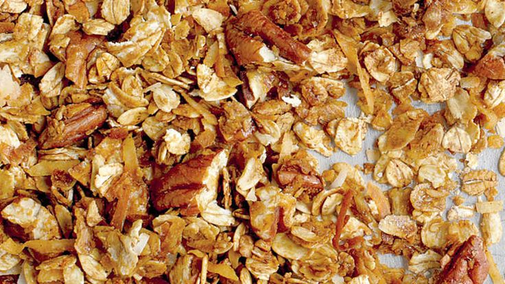Serve this homemade granola on plain yogurt with fresh fruit for a sweet, healthy breakfast.