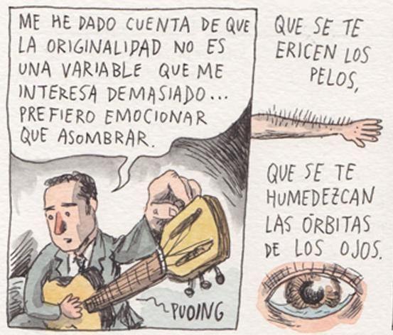 Jorge Drexler en una entrevista realizada por Liniers (@Liniers)