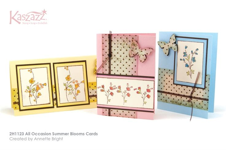 2H1123 All Occasion Summer Blooms Cards