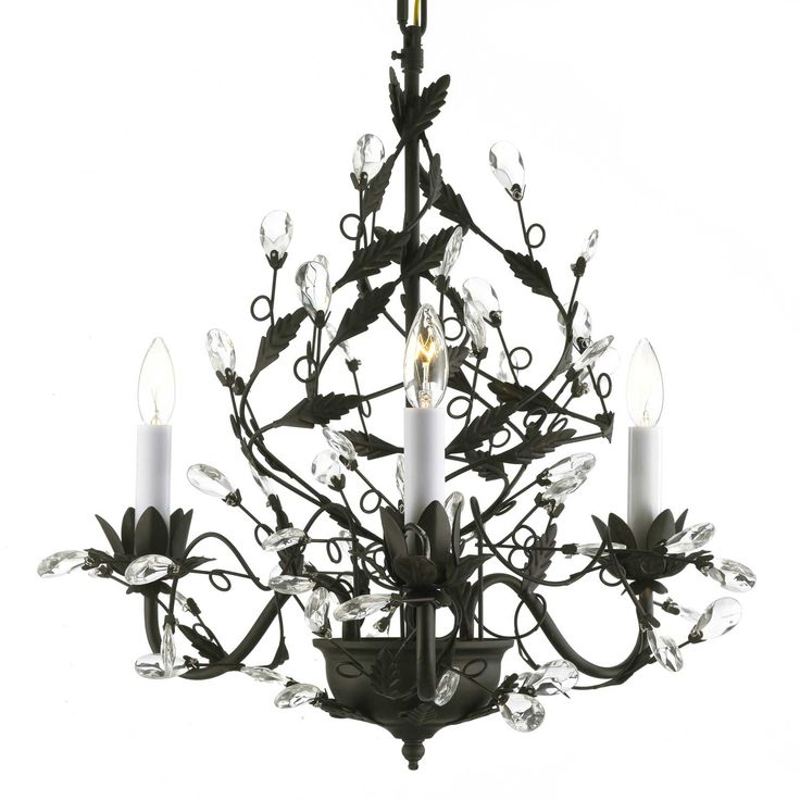 Best Lighting That Sparkles Images On Pinterest Chandeliers - Chandelier leaves crystals