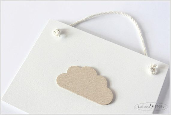 Wood wall art-Cloud-Skies theme-Gender by LullabySTORY on Etsy