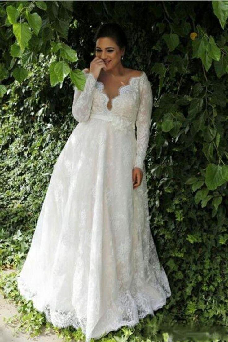 Style Modern Trends Lace Dresses Plus Size Wedding Dresses Long Sleeve Destination G Wedding Dress Long Sleeve Plus Size Wedding Gowns Perfect Wedding Dress [ 1104 x 736 Pixel ]