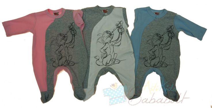 Tom & Jerry baba elől patentos rugdalózó (méret:56-68) - méret kicsit nagyobb, puha és jó anyag