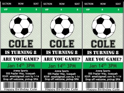 17 Best Ideas About Soccer Tickets On Pinterest | Soccer Party